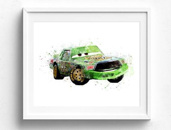 Chick Hicks Print Disney Cars Nursery Wall Art Disney Pixar | Etsy