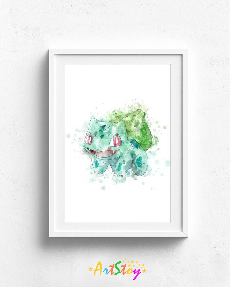 - Pokemon Print Bulbasaur Print Pokemon Art Print Pokemon Etsy