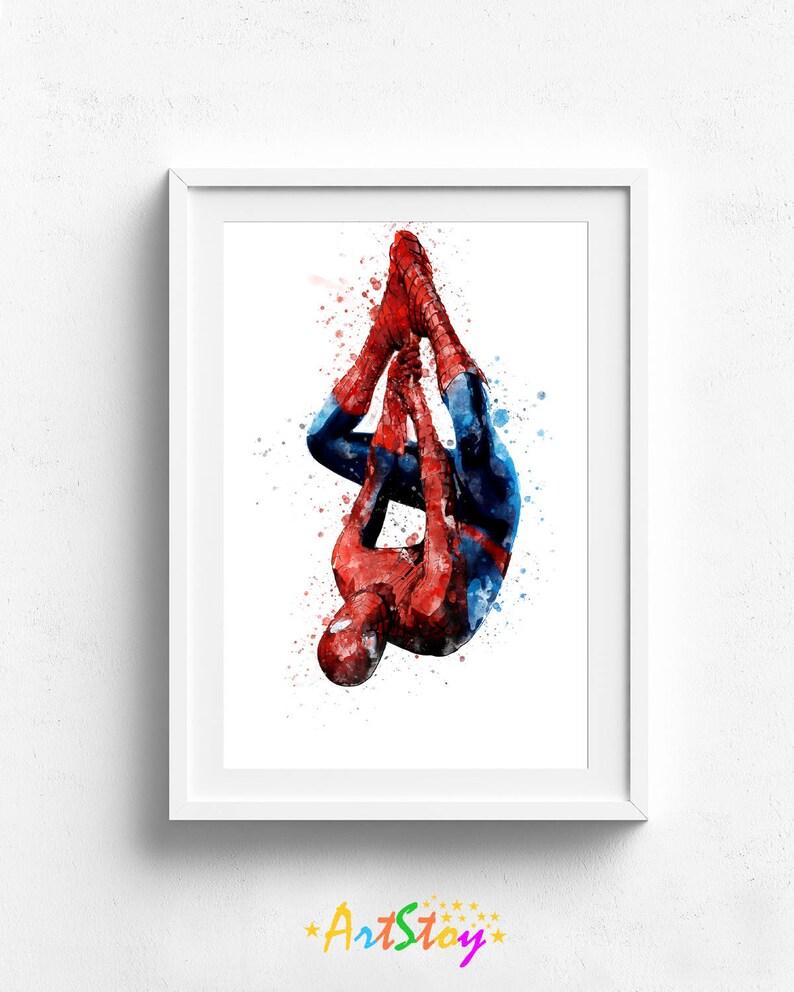 Drucken Sie Spiderman Spiderman Poster Spiderman Aquarell Etsy