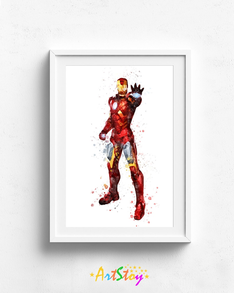 Iron Man Art Print Poster Marvel Instant Download Avengers image 0