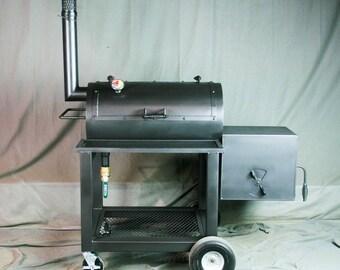 BBQ Smoker - Heavy Duty Offset Smoker - Texas BBQ Smoker - Barbecue Smoker - Barbeque Smoker - Grill - BBQ Pit - Smoker Pit - Texas Pit