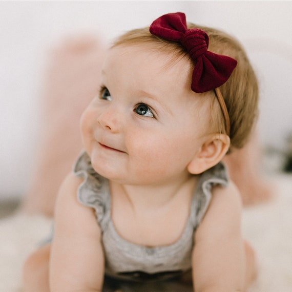Square Knot Bow Baby Headband Hair Bows Baby Shower Gift  f31fd9d9e7e