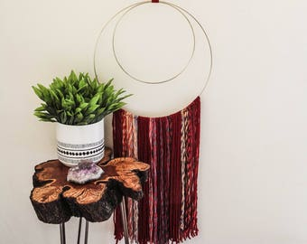Yarn Wall Hanging With Ring Hanger