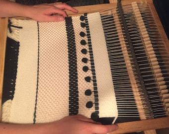 Shed stick, weaving comb, SUPER FRAME LOOM plans!