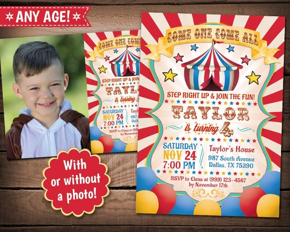 carnival birthday invitation carnival theme party circus