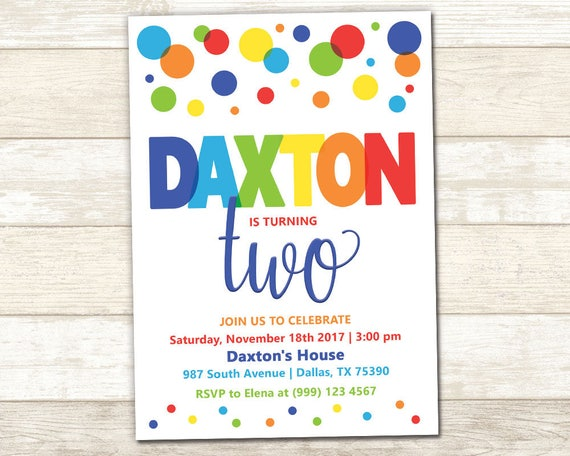 polka dot party invitation polka dot birthday party polka etsy