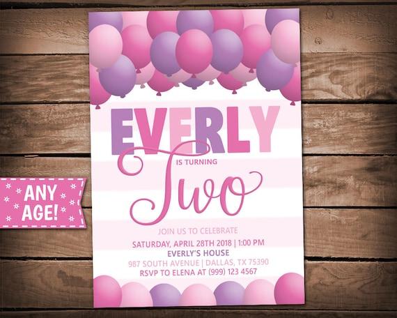 balloons party invitation balloons birthday party balloons