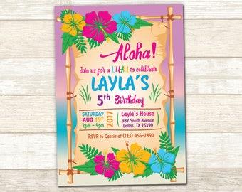 Aloha invitation Etsy