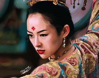 Zhang Ziyi - Digital Painting