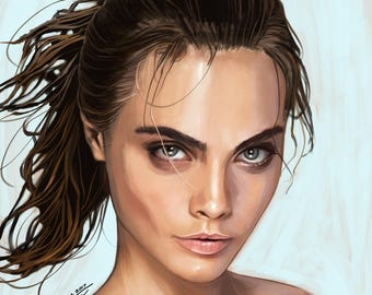 Cara Delevingne - Digital Painting
