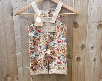 6-9month reversible dungarees