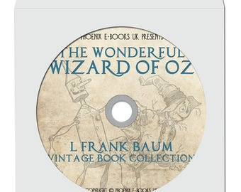 THE WIZARD of Oz, 24 Vintage Books in pdf + 883 Hi Res Images on DVD-Rom L. Frank Baum