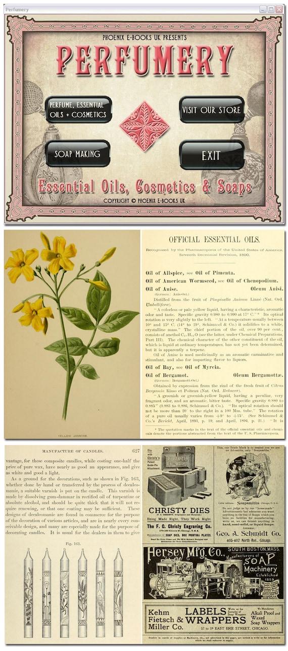 PERFUMERY 47 Vintage Books pdf on DVD-Rom Perfume, Essential Oils, Soap  Making, Olfaction