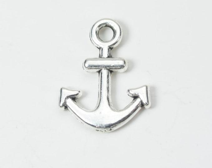 BULK 50 Anchor charms antique silver tone SC111