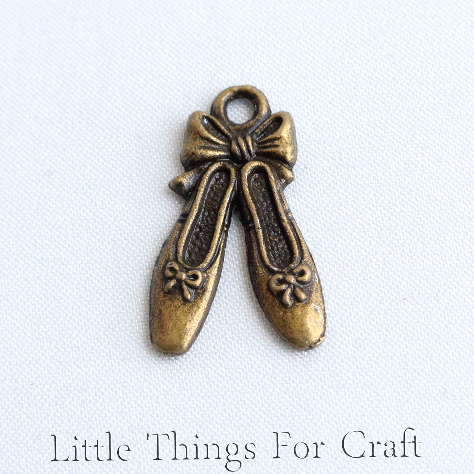 bronze color ballet shoes earrings charms for bracelets in bulk decorative ballerina slippers jewelry charms pendants for neckla