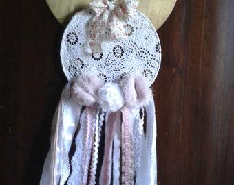 Dream catcher / 25 cm in diameter antique lace Dreamcatcher
