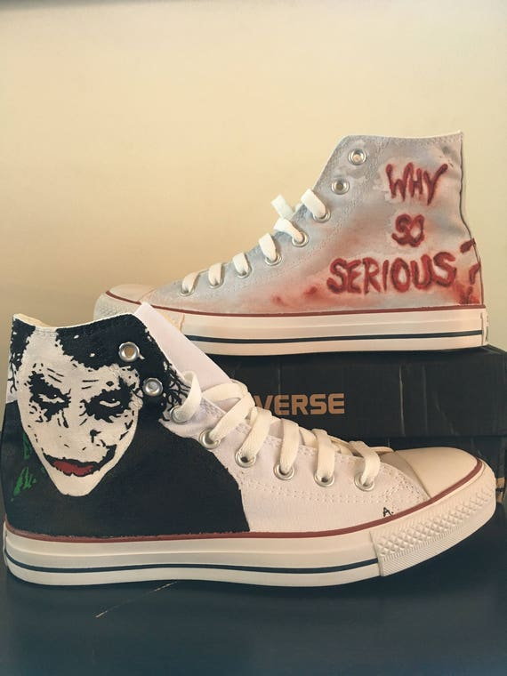 9d90a9ec22ea ... best price sneakers converse all star joker hand painted custom etsy  6a01a abbdd