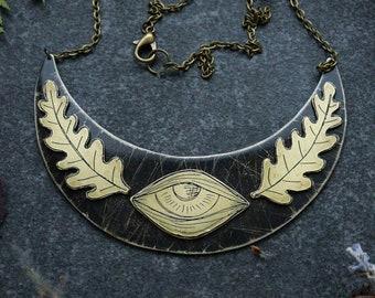 Male Pelvis Eye Pendant Necklace ERDREICH