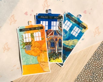 Vincent and the Doctor   Laptop, Water Bottle, Journal Water-Resistant Stickers