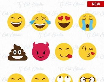 emoji SVG Collection, Emoji Svg, Emoji Collection Svg, Emoji Svg, Smiley faces, Emojis cut files Svg Files for Silhouette Cameo or Cricut