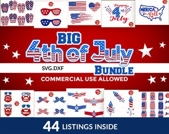 4th of july svg, svg bundle, patriotic svg, fourth of july svg, Files for Silhouette Cameo or Cricut, Commercial & Personal Use.