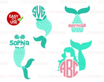 Mermaid svg, Mermaid tail svg, summer svg, SVG Files for Silhouette Cameo or Cricut, Commercial & Personal Use.