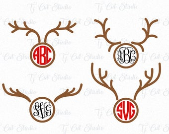Christmas Reindeer Svg Antlers, Reindeer Antlers Svg, Antlers Svg, Svg Files for Silhouette Cameo or Cricut Commercial & Personal Use