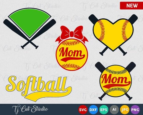 Softball Svg Softball Monogram Frames Svg Softball Frames | Etsy