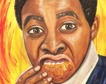 The Chicken Connoisseur Painting on Canvas