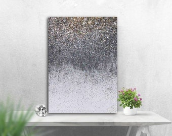 Glitter Wall Art Etsy