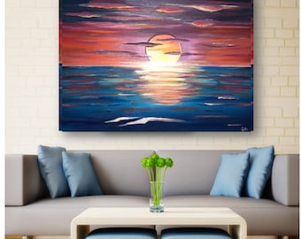 lovely 40x30 Large abstract painting