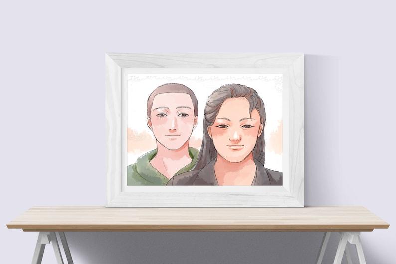 cf5d06cbe7dd Siblings Gift Brother & Sister Custom Portrait Gift   Etsy
