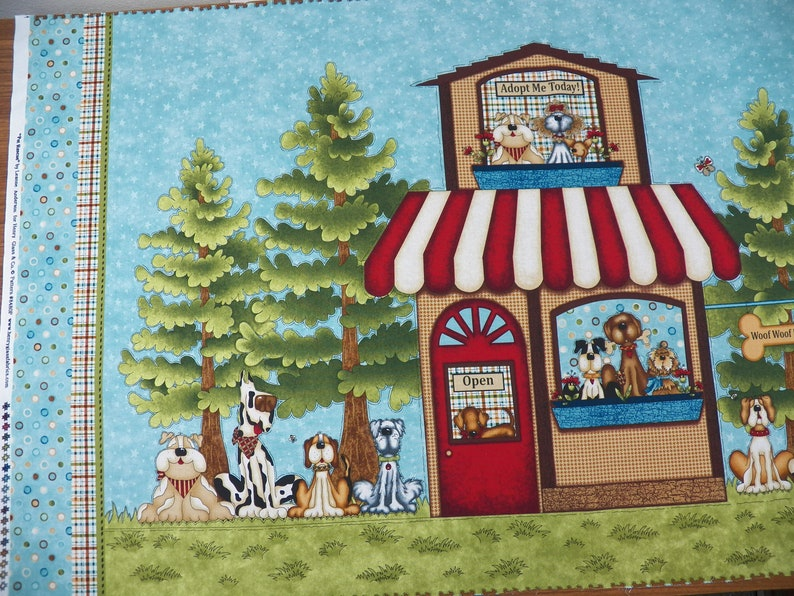 Pet Rescue Fabric Panel, Dog Rescue Fabric, Woof Woof Rescue Fabric, Cotton  Fabric, Cheater Quilt, Dog Adoption Fabric, Henry Glass Fabric