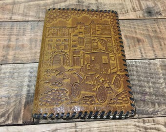 Brown Vintage Retro Leather Billfold Wallet Ussr Soviet Union Tooled Leather Wallet