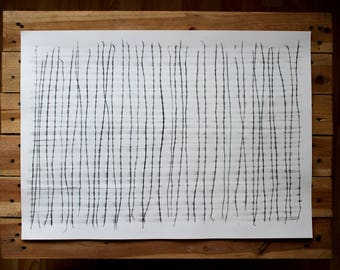"""Original drawing """"Waterlines"""" / abstract"""