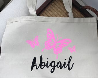 Large Canvas Travel Tote