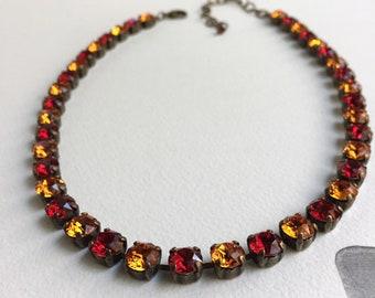 FSU, Seminole inspired Crystal Necklace.