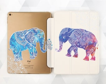 cheap for discount d0f72 40d24 Elephants iPad case 6th gen Girl Cute iPad 9.7 2018 Kids Animal iPad Pro 11  10.5 12.9 inch Mini 4 Air 3 2 Blue Mandala Boho Ornament Cover