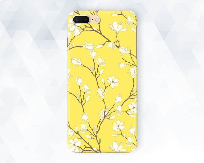 buy popular 91e0d bc24d Flowers iPhone case Yellow Floral iPhone XR Xs 8 7 6 Girl Cute case for  Samsung Galaxy s9 Plus Pixel 3 Kawaii Aesthetic Plant Girly Summer