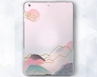 iPad pink case iPad case geometric iPad case sun iPad case minimalist iPad cover iPad case 12 9 iPad case 9 7 iPad Pro 9 7 case iPad light