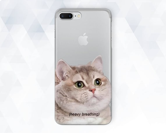 low priced 43ef0 642b2 Cat iPhone case Cute Kid iPhone XR Xs 8 7 6 Kitten Kitty case for Samsung  Galaxy s9 Plus s8 Note 9 Pixel 3 Clear Funny Meme Minimal Animal