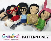 Bob 39 s Burgers Inspired Amigurumi Collection Belcher Family PATTERN ONLY