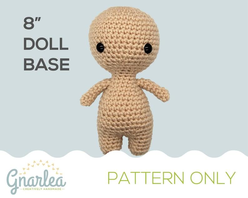 Crochet Chibi Doll Base PATTERN ONLY  8 Amigurumi image 1