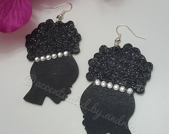 Dazzling Afro Puff Earrings