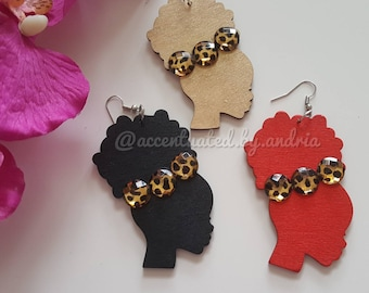 Fierce Afro Puff Earrings