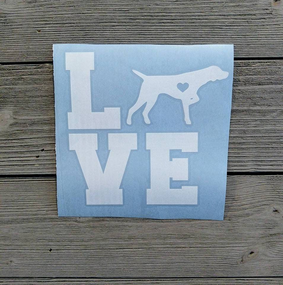 Love GSP Decal/ German Shorthaired Pointer Decal/ German | Etsy