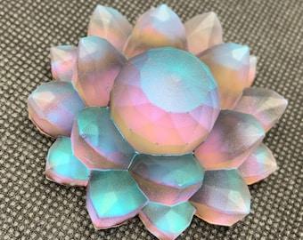 After The Rain Resin Color Shift Lotus Flower | Paperweight | Desk ornament | Shelf Decoration | Pink | Blue | Purple | Gold | Iridescent |