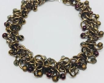 Morning Coffee Beaded Bracelet
