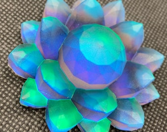 Blue Obsession Resin Color Shift Lotus Flower | Paperweight | Desk ornament | Shelf Decoration | Pink | Blue | Purple | Green| Iridescent |