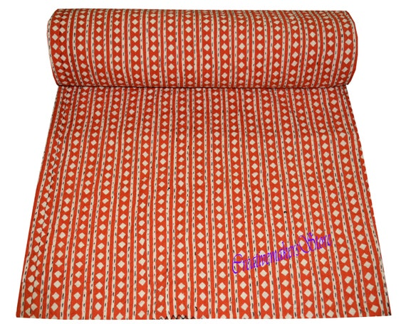 Indian Craft Of Paradise Kantha Quilt Ethnic Bohemian Reversible Bedspread handmade Ethinic Decor Blanket Kantha Quilt King Queen /& Twin